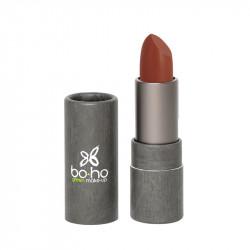 Rouge à lèvres bio et vegan mat couvrant Brick red photo officielle de la marque Boho Green Make-Up