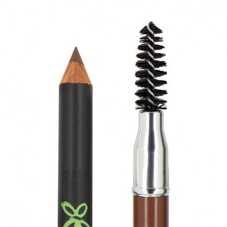 Crayon sourcils bio Châtain photo officielle de la marque Boho Green Make-Up