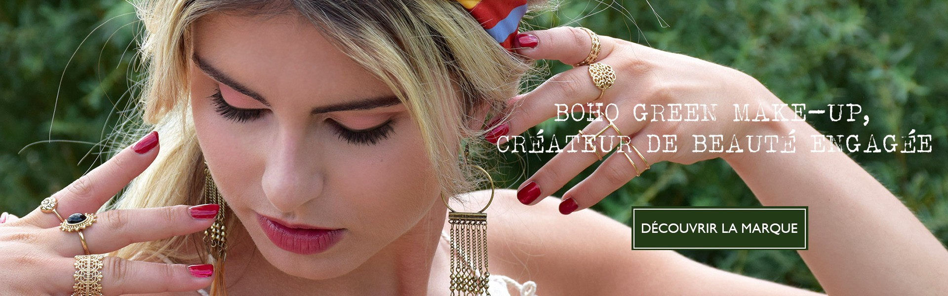 Maquillage bio et naturel Boho Green Make-up