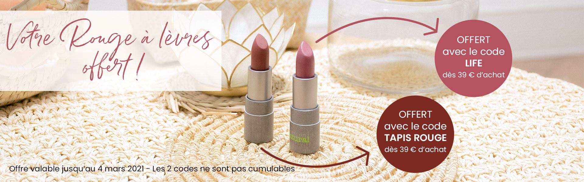 1 rouge à lèvres offert dès 39 € d'achat !